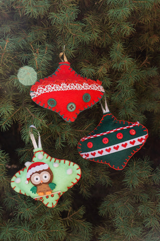 Assorted Handmade Felt Ornaments - Ornaments - WAR Chest Boutique