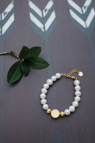 Gold Vermeil Pearl Bracelet for Women - WAR Chest Boutique