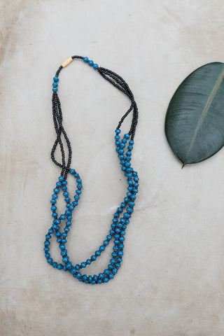 Blue Bead Uganda Necklace for Women - Jewelry - WAR Chest Boutique