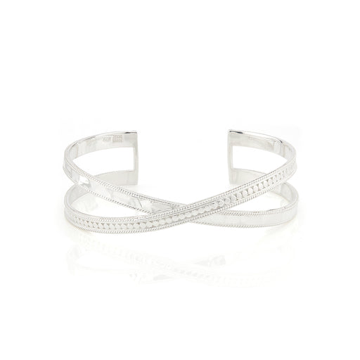 Hammered Cross Cuff - Silver