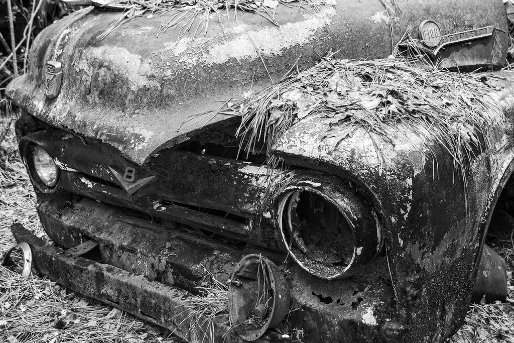 Have you seen my photographs of rusty, abandoned antique vehicles?