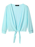 Solid Long Sleeve Short Sunscreen Cardigan For Women