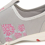 Mesh Hollow Out Floral Print Breathable Casual Flat Sport Shoes