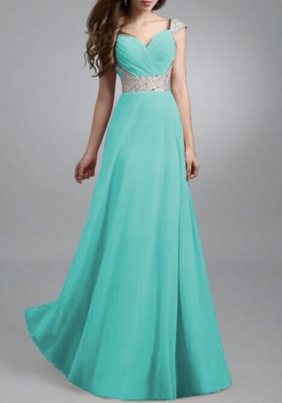 Sky Blue Patchwork Sequin Draped Double-deck Flowy High Waisted Fashion Prom Maxi Dress