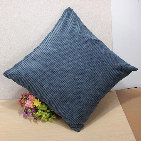 Pure Color Corn Kernels Corduroy Sofa Decor Pillow Cases Zippered Cushion Cover