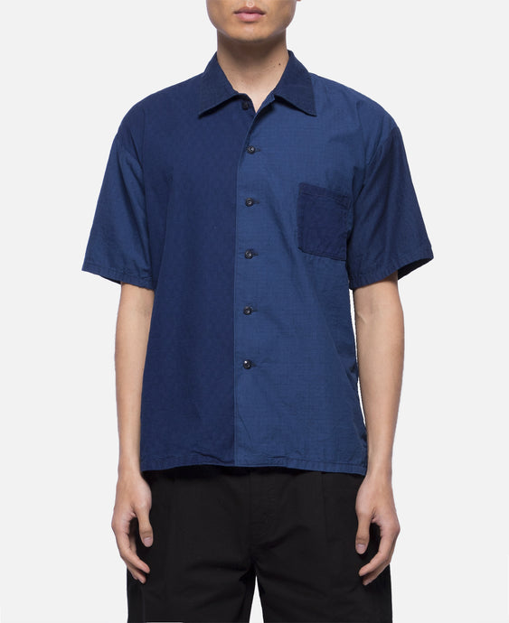 Drop Shoulder Indigo H/S Shirt