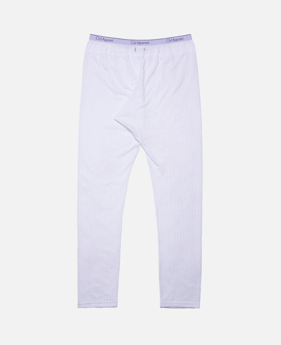 C Through Pants W/Clot Elastic Tape (White)