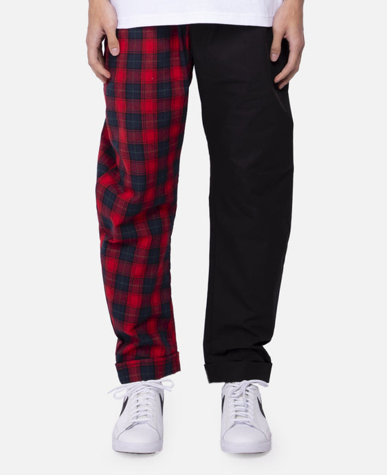Plaid Split Pants (Red)
