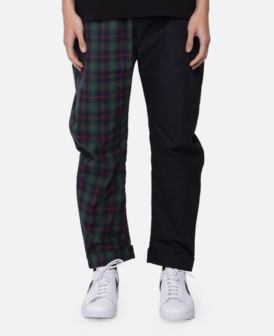 Plaid Split Pants (Green)