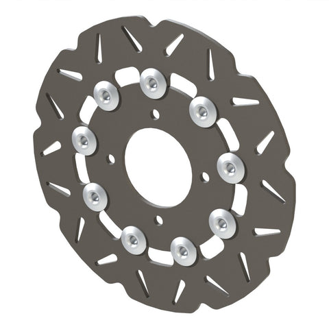 Piranha II floating rear brake rotor
