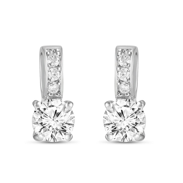 Veronica Simulated Diamond Earrings-Earrings-Starlet Jewellery