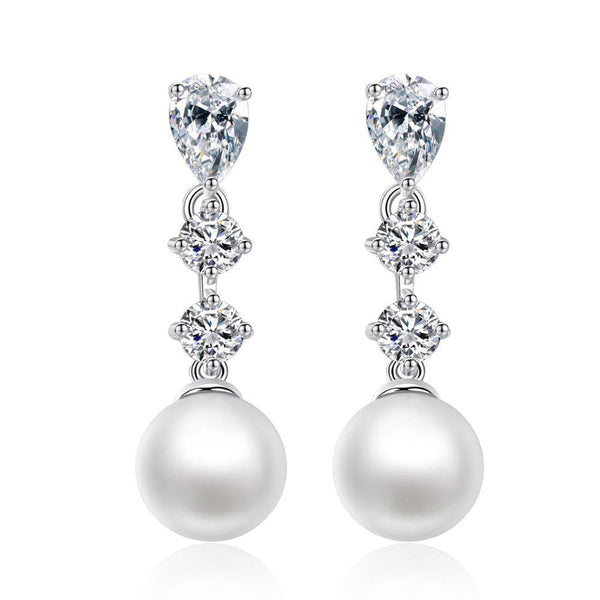 Beatrice Pearl Earrings-Starlet Jewellery
