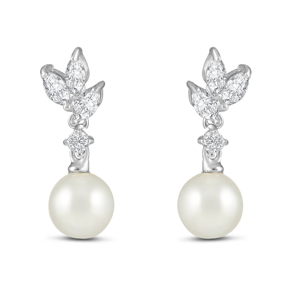 Diana Pearl Earrings-Starlet Jewellery