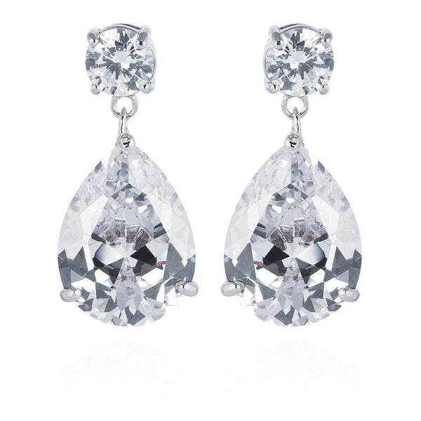 Eternity Simulated Diamond Earrings-Starlet Jewellery