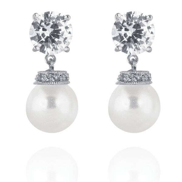 Maisey Pearl Wedding Earrings-Starlet Jewellery