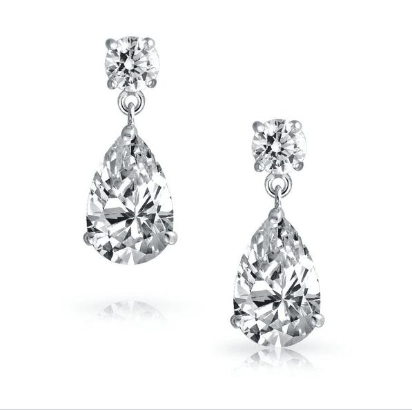 Primavera Simulated Diamond Earrings-Earrings-Starlet Jewellery