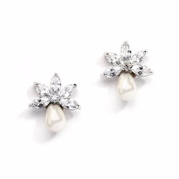 Stephanie Pearl Earrings-Pearl Drop Earrings-Starlet Jewellery