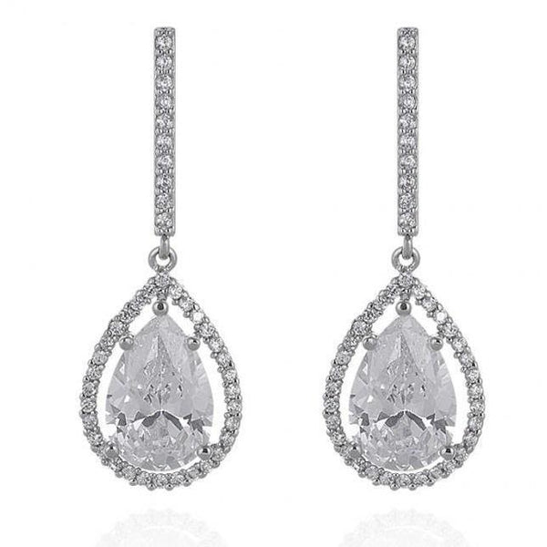 Dawn Simulated Diamond Earrings-Starlet Jewellery