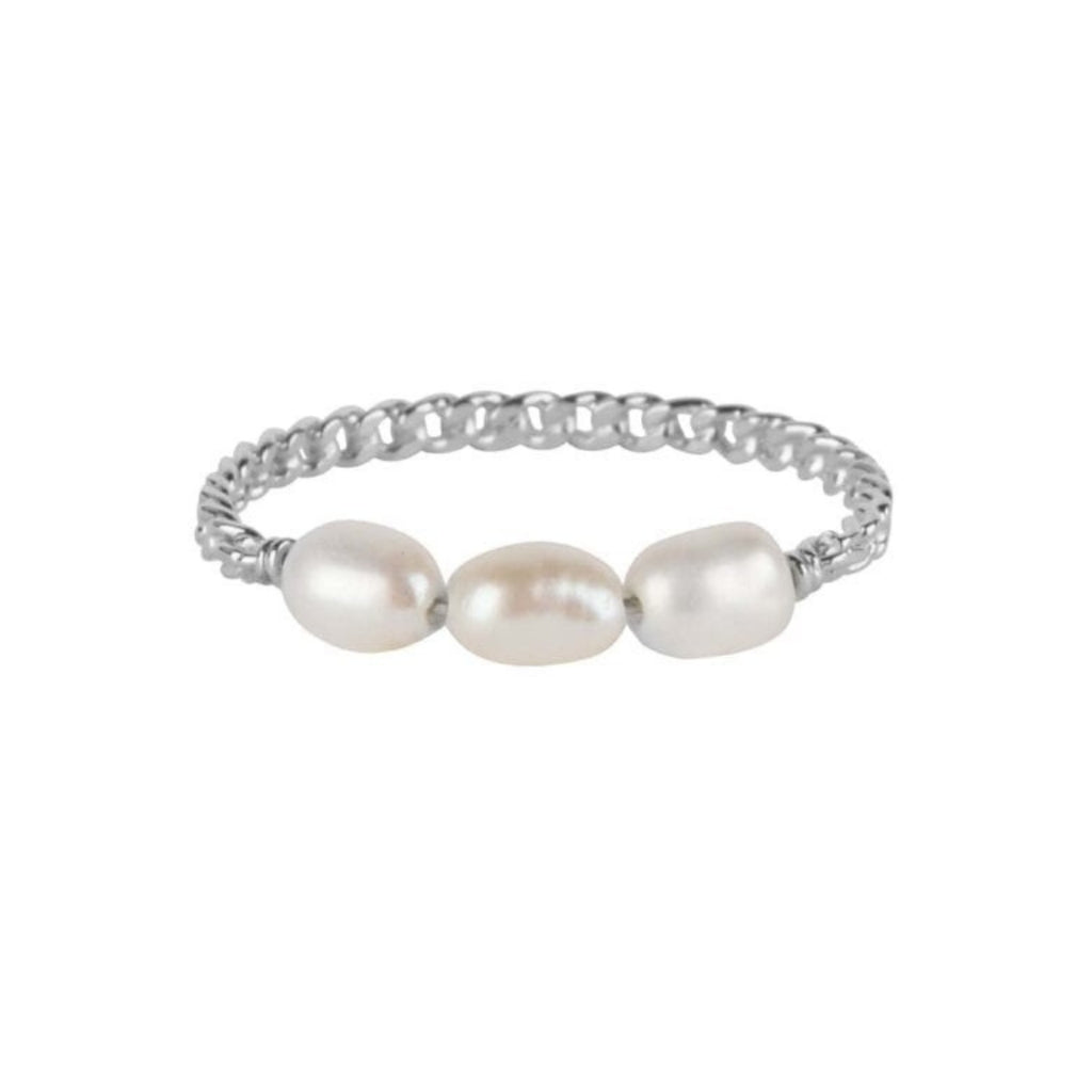 Ring | Three Pearls Zilver - Papita.nl