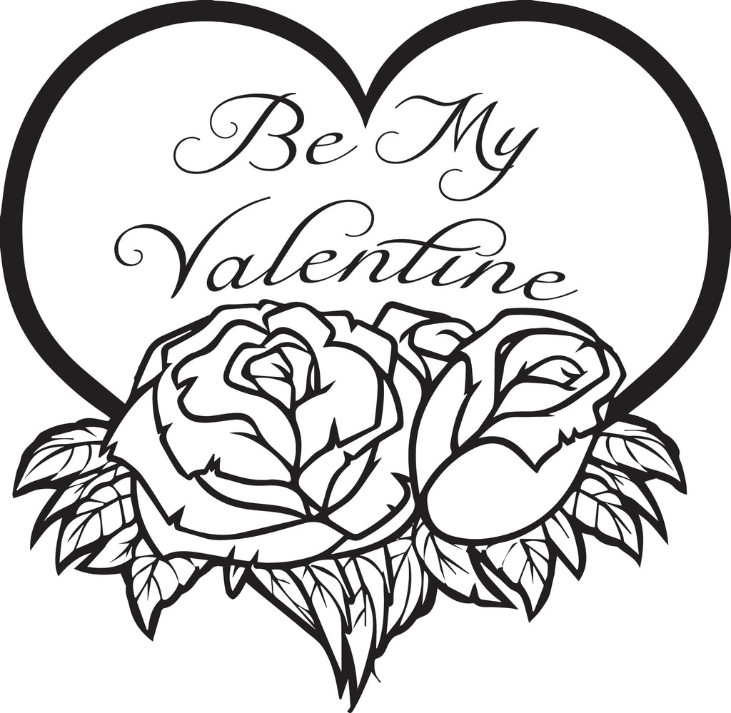 FREE Printable Be My Valentine Coloring Page for Kids