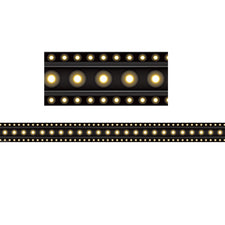 Black Marquee Straight Bulletin Board Border Trim