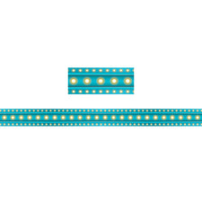 Light Blue Marquee Straight Bulletin Board Border
