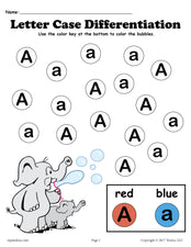 FREE Letter A Do-A-Dot Printables For Letter Case Differentiation Practice!