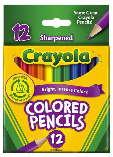 Colored Pencils 12 Count Half Length