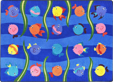 "Friendly Fish© Classroom Rug, 7'8"" x 10'9"" Rectangle"