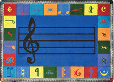 "Note Worthy© (Elementary) Classroom Circle Time Rug, 7'8"" x 10'9"" Rectangle"