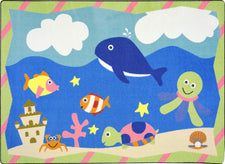 "Sea Babies© Kid's Play Room Rug, 5'4"" x 7'8"" Rectangle"