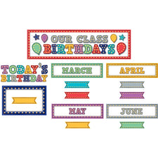 Teacher Created Resources Marquee Our Class Birthdays Mini Bulletin Board Set