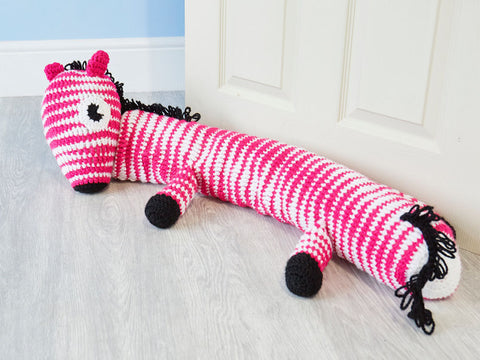 Crochet Now Ziggy Zebra Draught Excluder in King Cole Big Value Chunky