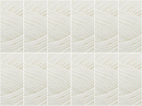 King Cole Merino Blend DK Value Pack White