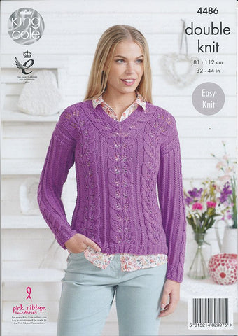 Sweater and Top in King Cole Bamboo Cotton DK (4486)