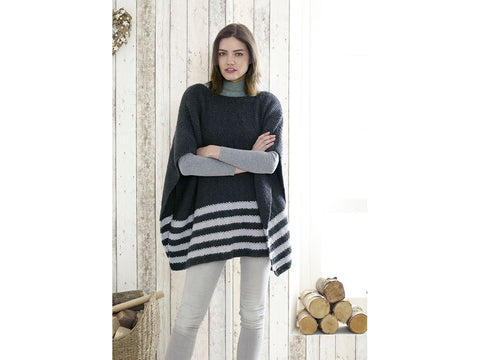 Ladies Ponchos in King Cole Timeless Chunky (5179K)