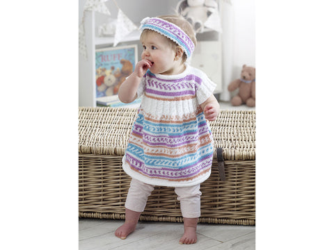 Cardigan, Dress, Coat, Beret & Headband in King Cole DK (5219K)