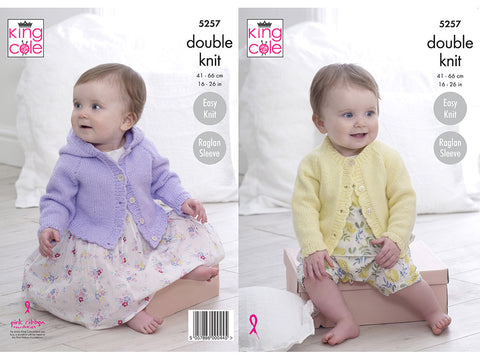 Cardigans In King Cole Big Value Baby DK 50g (5257K)