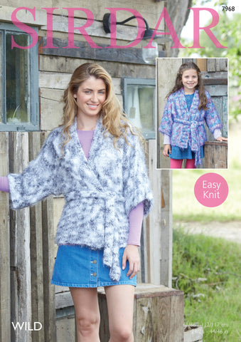 Girls and Womans Kimono in Sirdar Wild (7968)
