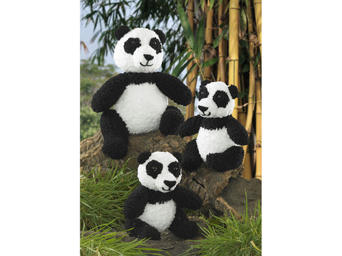Panda Toys in King Cole Cuddles Chunky (9013K)