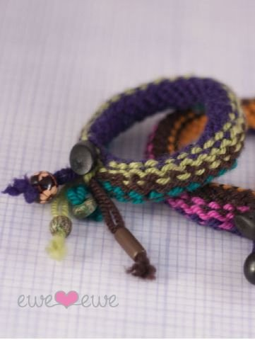 Knitship Bracelets in Ewe Ewe Yarns Digital Version-Deramores