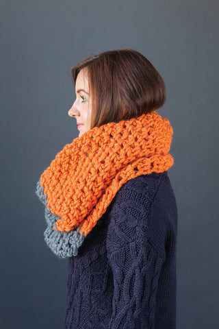 Colour Block Cowl - Rowan Big Wool - Yarn Pack