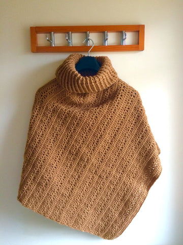 Cinnamon Stick Poncho by Veronika Cromwell in King Cole Big Value Chunky