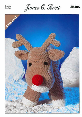 Rudolf the Reindeer in James C. Brett Flutterby Chunky (JB405)