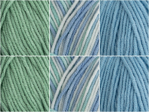 James C. Brett Cotton On DK Cool Mint Colour Pack
