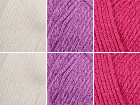 Pretty In Purple Colour Pack in Patons Fairytale Fab Aran