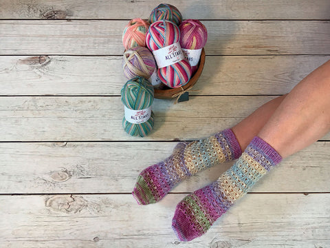 Tiptoe Socks in Stylecraft Head Over Heels All Stars