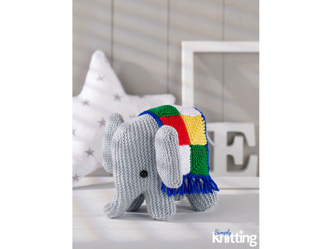 Simply Knitting Elephant Toy by Amanda Berry in Hayfield Bonus DK