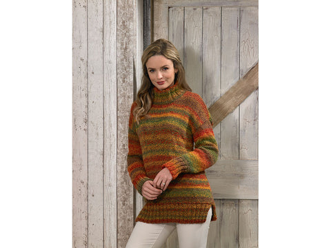 Sweater in James C. Brett Marble Chunky (JB587)