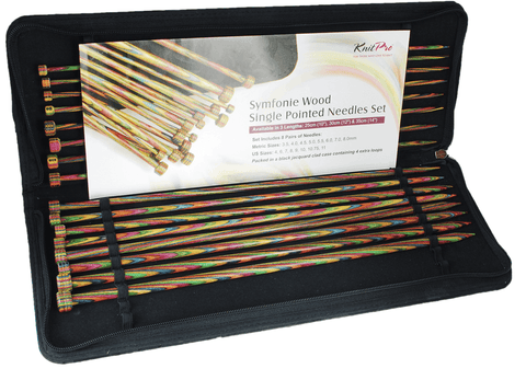 Knit Pro Symfonie Wood Single Point Knitting Needle Set - 35cm (Set of 8 Pairs)